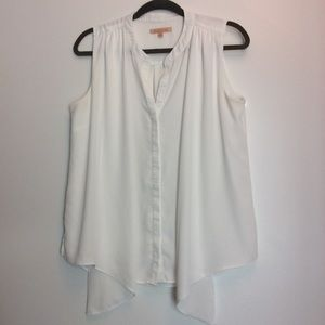 Gibson Latimer Tops - Gibson Latimer Off-White Draped Top Size M